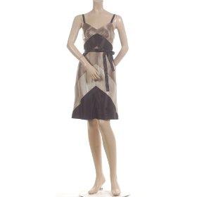 fff896c4dd BCBG GRAVEL SILK SATIN PANEL COCKTAIL DRESS